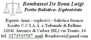 Perito Balistico Studio Balistica Esplosivistica Forense Italia