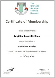 Forensic Science Society perito balistico , firearms examination , balistica forense, esplosivistica, scena del crimine