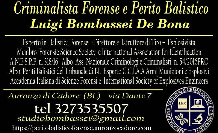 perito balistico Balistica Forense Esplosivi armi scena del crimine