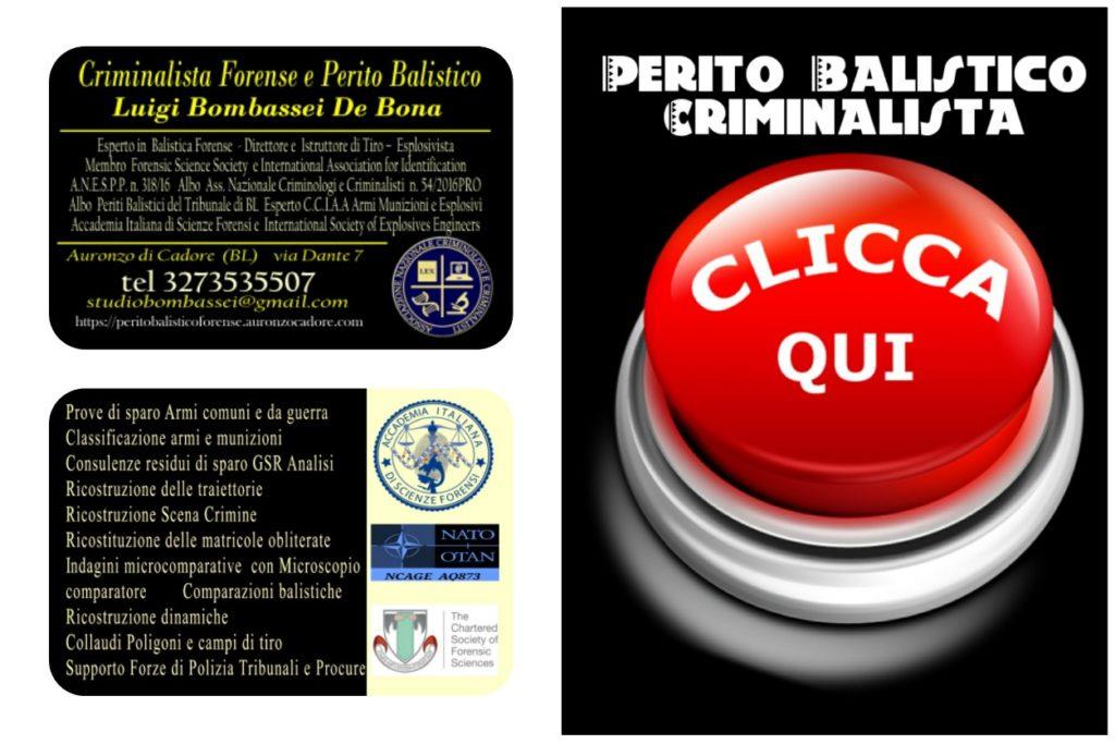 perito balistico Milano Torino bergamo Sondrio  lecco Bari Genova Bergamo Bologna Modena Lecce brindisi Cesena Aosta Rimini Forlì